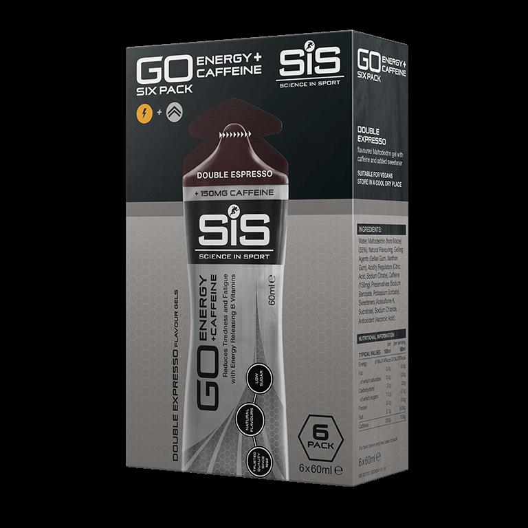 GO Energy + Double Caffeine Gel - 6 Pack - Double Espresso