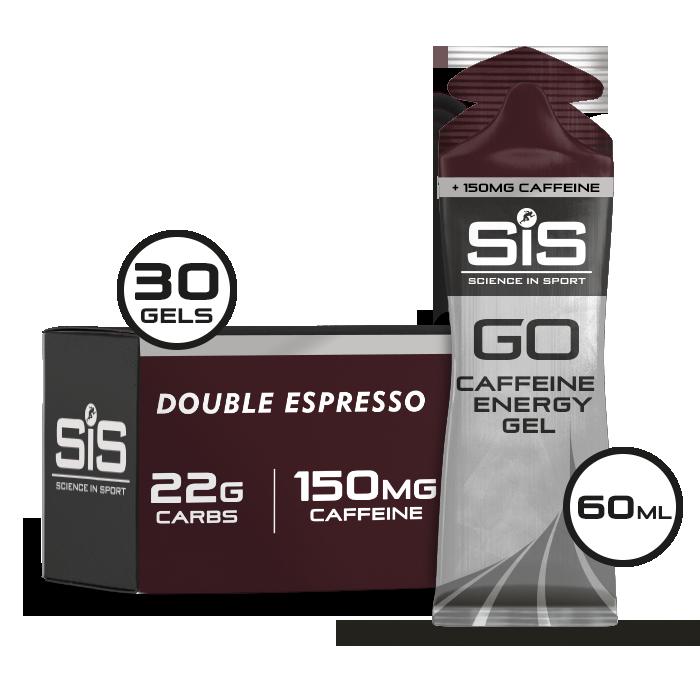 GO Energy + Double Caffeine Gel 60ml 30 Pack - Espresso