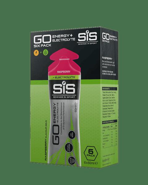 SiS GO Energy + Electrolyte Gel 60ml 6 Pack Raspberry