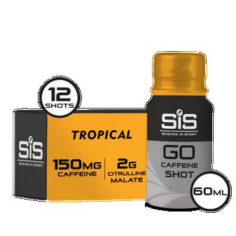 SiS GO Caffeine Shot - Tropical (12 x 60ml)