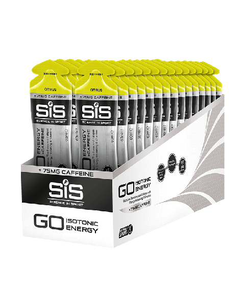 SiS GO + Caffeine Gel 60ml - Citrus (30 Pack)