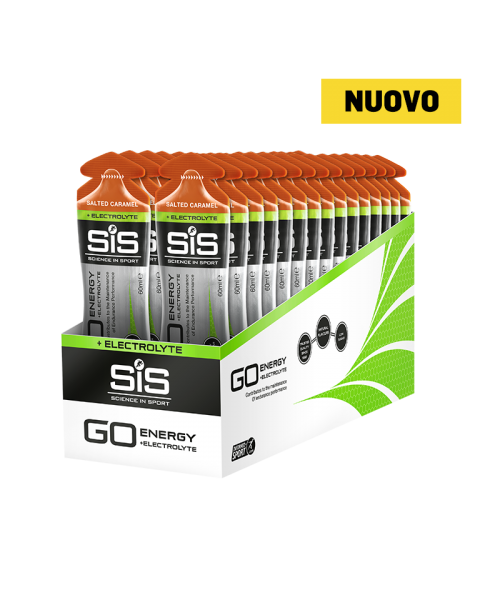 GO Energy + Electrolyte Gel  - 30 Pack Salted Caramel