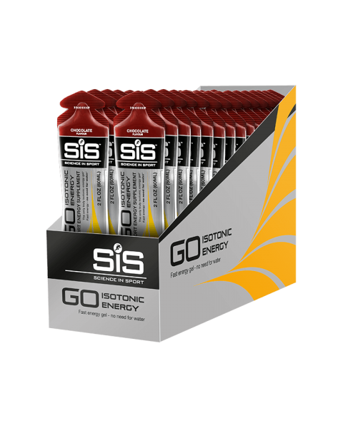 GO Isotonic Energy Gel 60ml 30 Pack - Chocolate