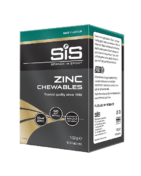 Zinc Chewables 10mg - 120 tablets (Mint)