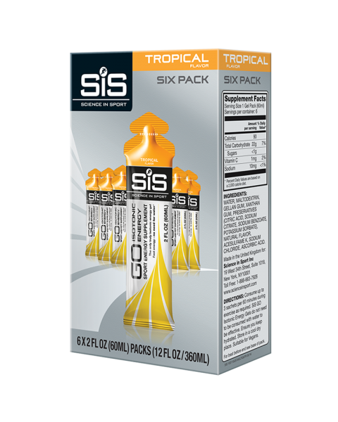 GO Isotonic Energy Gel 60ml 6 Pack - Tropical