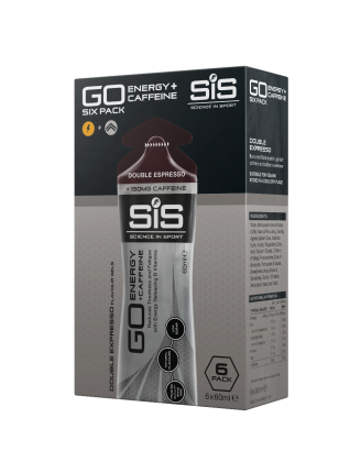 SiS GO Energy + Double Caffeine Gel 60ml 6 Pack Double Espresso