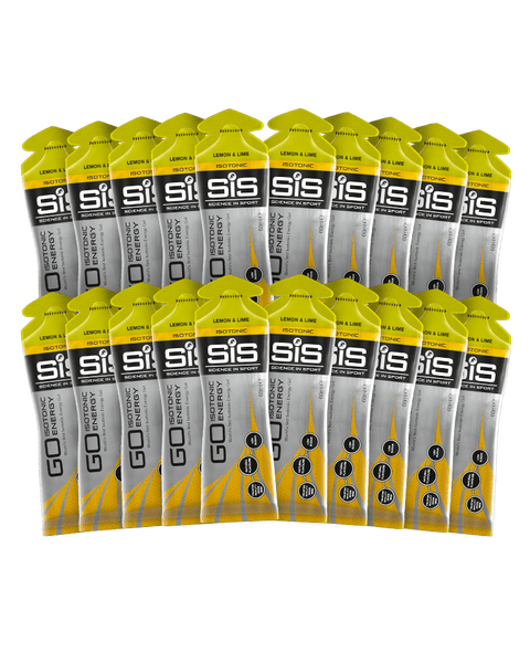 GO Isotonic Energy Gel - 20 Pack (Zitrone & Limette)