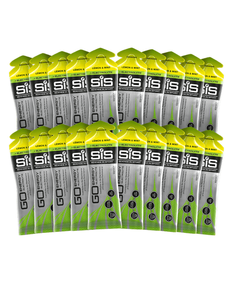 GO Energy + Electrolyte Gel - 20 Pack (Lemon & Mint)