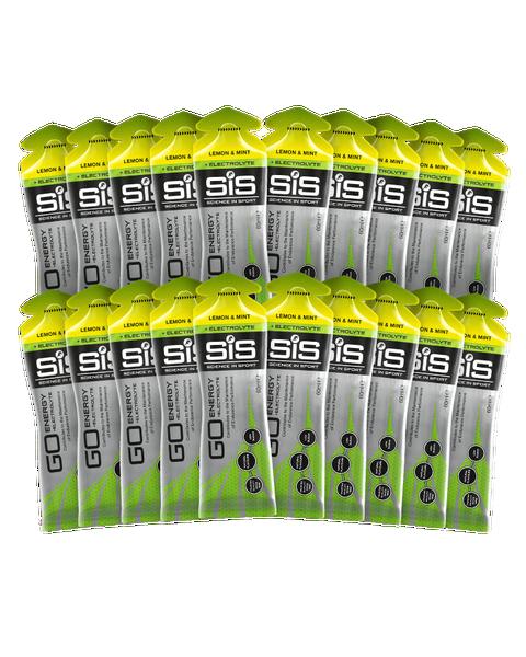 SiS GO Energy + Electrolyte Gel Lemon & Mint - 20 Pack