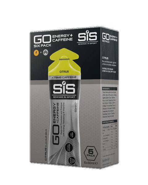 SiS GO + Caffeine Gel 60ml - Citrus (6 Pack)