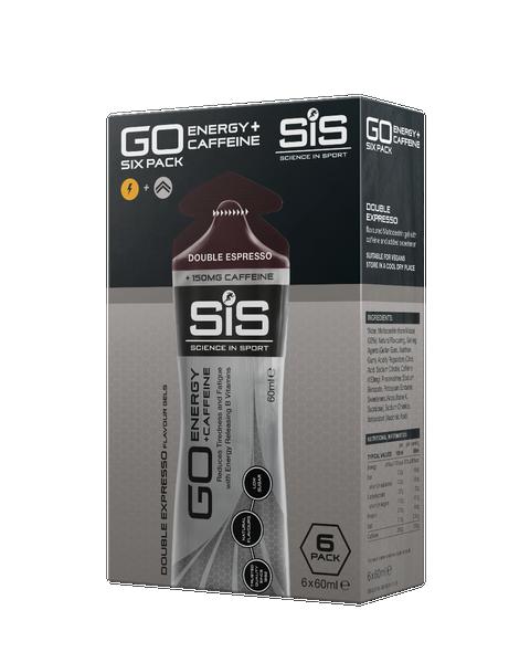 SiS GO Energy + Double Caffeine Gel 60ml 6 Pack Double Espresso