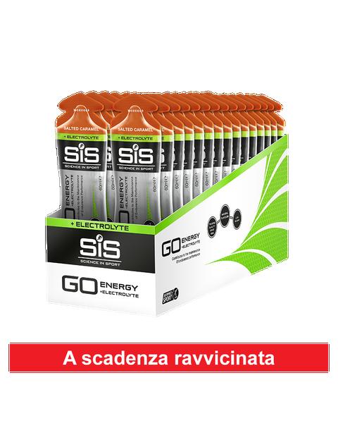 GO Energy + Electrolyte Gel  - 30 Pack - Salted Caramel  - scade il 30 giugno 2020