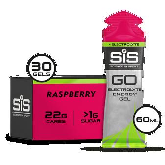 GO Energy + Electrolyte Gel - 30er Pack (Himbeere)