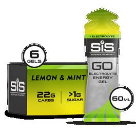 SiS GO Energy + Electrolyte Gel 60ml 6 Pack Lemon & Mint