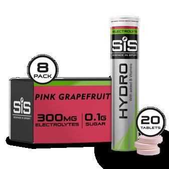 SiS Hydro Tabletas - Paquete de 8 tabletas de hidratación (Toronja rosa)
