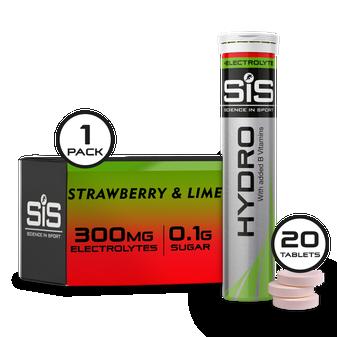 Go Hydro 20 Tabletten  - Erdbeere & Limette