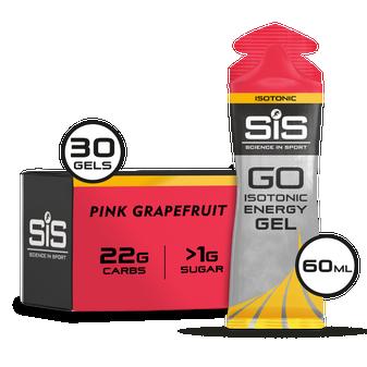 SiS GO Isotonic Gel 60ml 30 Pack Pink Grapefruit