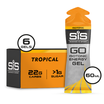 SiS GO Isotonic Gel 60ml 6 Pack Tropical