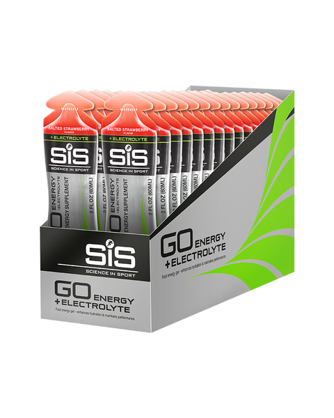 SiS GO Energy + Electrolyte Gel Salted Strawberry 30 Pack