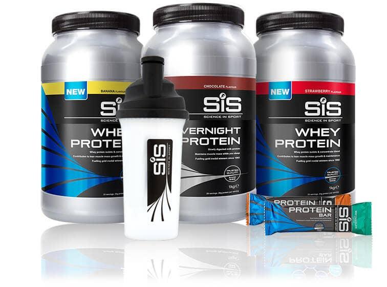 SiS Rebuild Range - Protein Powders, bars.