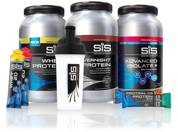 SiS Rebuild-Sortiment - Proteinpulver, Riegel und WHEY20.