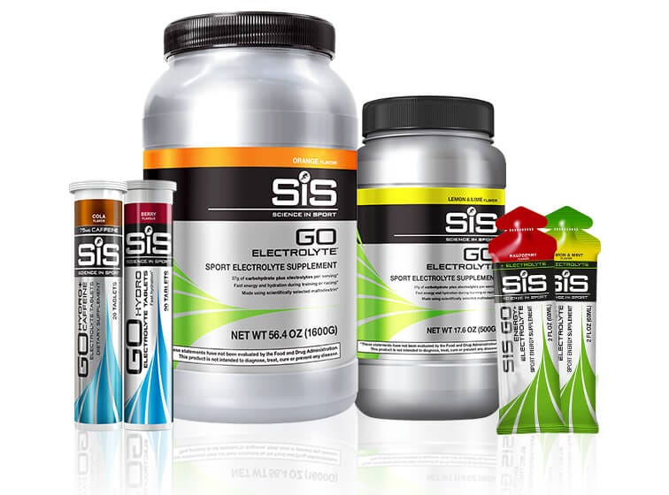 SiS Hydration - Tablets, powders & gels.