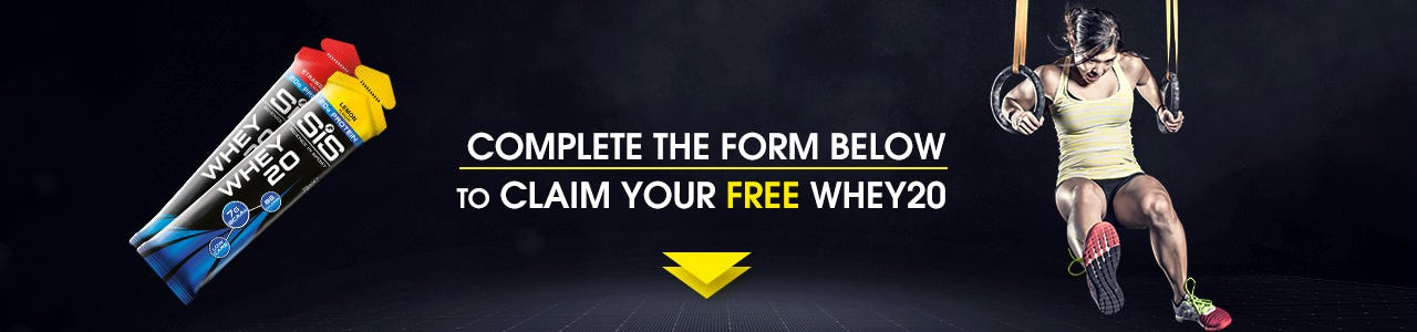 Receive a FREE Sample of WHEY20 Protein